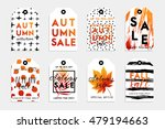 collection of autumn sale and... | Shutterstock .eps vector #479194663