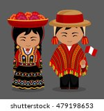 peruvian in national dress. man ... | Shutterstock .eps vector #479198653