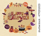 fun halloween design circle... | Shutterstock .eps vector #479201023