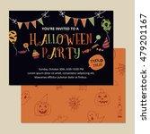 halloween party invitation card ... | Shutterstock .eps vector #479201167