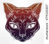black cat head portrait. ideal...   Shutterstock .eps vector #479220307