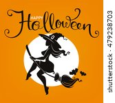 halloween party invitation or... | Shutterstock .eps vector #479238703