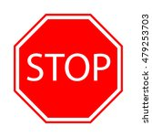 traffic stop sign vector