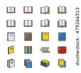 book color icons set of... | Shutterstock .eps vector #479266513