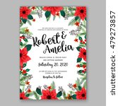 poinsettia wedding invitation... | Shutterstock .eps vector #479273857
