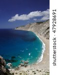 Small photo of beach - Platia Ammos, Kefalonia, Greece