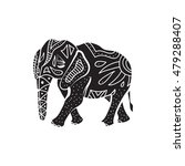 elephant icon in simple style... | Shutterstock . vector #479288407