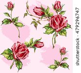 seamless floral background.... | Shutterstock .eps vector #479296747