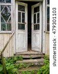 old wooden door  opened.... | Shutterstock . vector #479301103