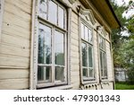 old window in old wooden house | Shutterstock . vector #479301343