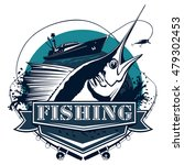 blue marlin fishing logo... | Shutterstock .eps vector #479302453