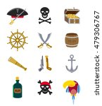 set of flat vector piratical... | Shutterstock .eps vector #479306767