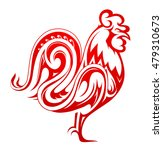 red rooster as symbol for year... | Shutterstock .eps vector #479310673