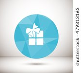 gift  box  flat  vector  | Shutterstock .eps vector #479313163