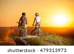 cyclists in helmets and glasses ... | Shutterstock . vector #479313973