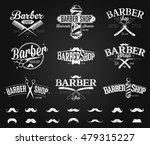 typographic barber shop emblems ... | Shutterstock .eps vector #479315227