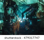 welding robots movement in a... | Shutterstock . vector #479317747
