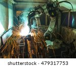 welding robots movement in a... | Shutterstock . vector #479317753