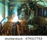 welding robots movement in a... | Shutterstock . vector #479317753