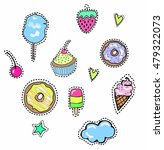 quirky trendy vector patches... | Shutterstock .eps vector #479322073