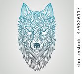 abstract wolf hand draw | Shutterstock .eps vector #479326117