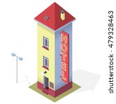 funny small hotel. tall and... | Shutterstock .eps vector #479328463