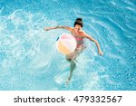 Young Woman With Beach Ball In...