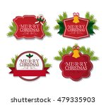 merry christmas labels design | Shutterstock .eps vector #479335903