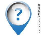 map pin symbol with question... | Shutterstock .eps vector #479336437