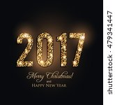 happy new year 2017 card  | Shutterstock .eps vector #479341447