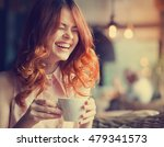 woman in a cafe. young... | Shutterstock . vector #479341573