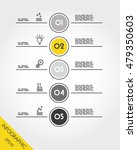 yellow infographic round five... | Shutterstock .eps vector #479350603