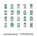 set of icons people avatars for ... | Shutterstock .eps vector #479353933