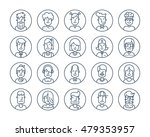 set of icons people avatars for ... | Shutterstock .eps vector #479353957