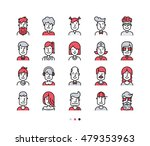set of icons people avatars for ... | Shutterstock .eps vector #479353963