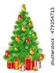 green fluffy christmas tree... | Shutterstock .eps vector #479354713