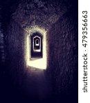 creepy passage in a castle | Shutterstock . vector #479356663