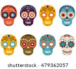 day of the dead sugar skulls ... | Shutterstock .eps vector #479362057