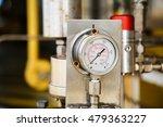 pressure gauge in oil and gas...   Shutterstock . vector #479363227