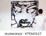 graffiti stencil street art.... | Shutterstock . vector #479365117