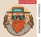 bad boy   vector illustration.... | Shutterstock .eps vector #479366623
