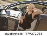 fashion outdoor portrait of... | Shutterstock . vector #479372083