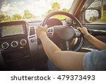 woman driving car  steering... | Shutterstock . vector #479373493