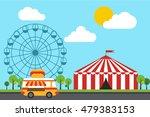 amusement theme park background ...   Shutterstock .eps vector #479383153