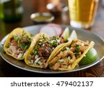 plate of mexican street tacos... | Shutterstock . vector #479402137