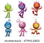 vector set of cartoon images of ... | Shutterstock .eps vector #479411803