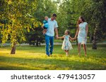 happy young family of four... | Shutterstock . vector #479413057