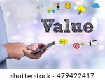value person holding a... | Shutterstock . vector #479422417