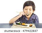 asian lovely boy is eating... | Shutterstock . vector #479422837