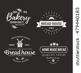 set of bakery badges with bread ... | Shutterstock .eps vector #479440183